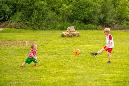 Geburtstagsfeier mit Fußballgolf
